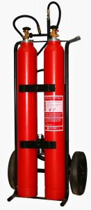 Pojazdný hasiaci prístroj snehový 2x10kg