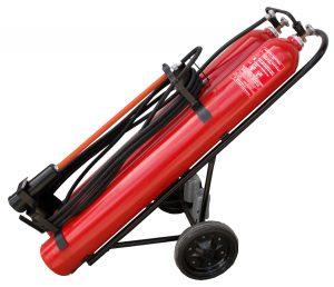 Pojazdný hasiaci prístroj snehový 2x30kg