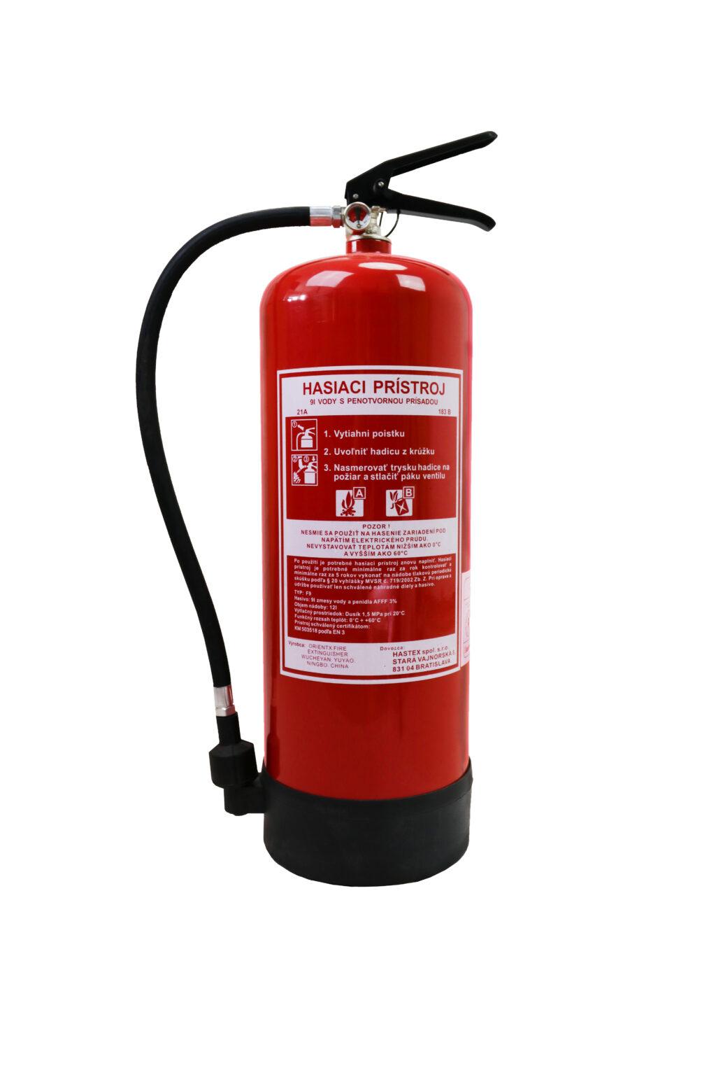 Prenosný hasiaci prístroj penový 9l