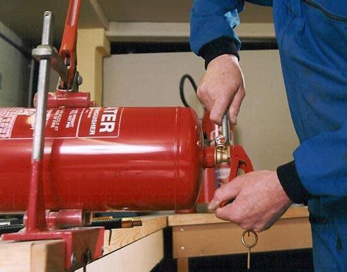Revízia nádob hasiacich prístrojov